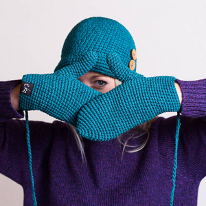 Teal Organic Cotton Mittens