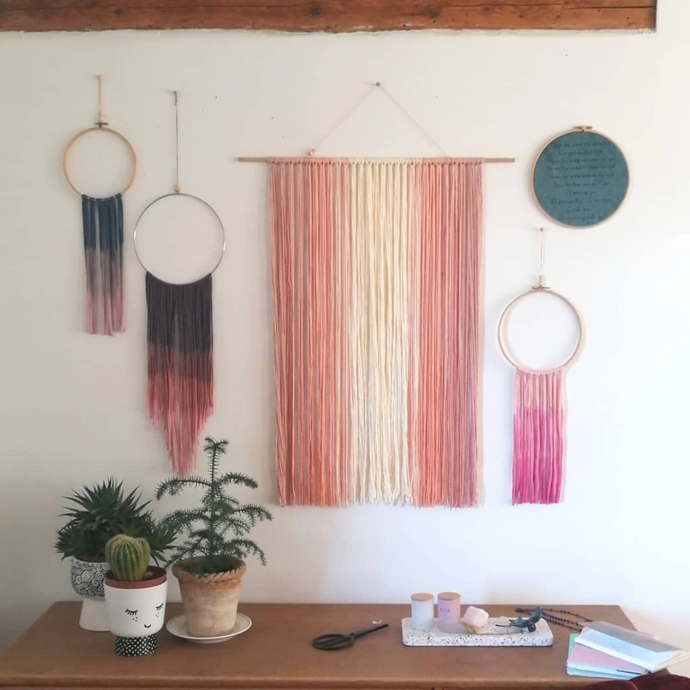 Blush Ombre Wall Hanging-Wall Hangings-EKA