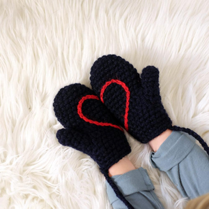 Hidden Heart Mittens - Child-Mittens-EKA