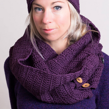 Load image into Gallery viewer, Organic Cotton Infinity Scarf-Scarves-EKA