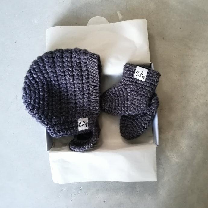 New Baby Gift Set - Bonnet And Booties-EKA