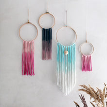 Load image into Gallery viewer, Dream Catcher - Petrol Blue Pink Ombre