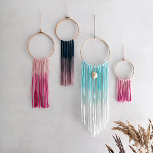 Dream Catcher - Petrol Blue Pink Ombre