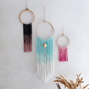 Dream Catcher - Petrol Blue Pink Ombre-Wall Hangings-EKA