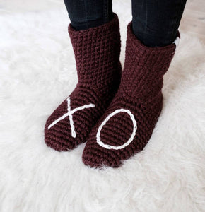 Plum XO Slipper Socks