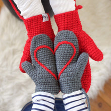 Load image into Gallery viewer, Hidden Heart Mittens - Child-Mittens-EKA