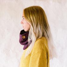 Load image into Gallery viewer, Aubergine Organic Cotton Cowl Scarf