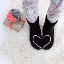 Load image into Gallery viewer, Slipper Socks With Love Heart - Adult