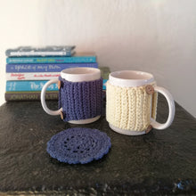 Load image into Gallery viewer, Organic Cotton Mug, Cosy And Coaster Set-Mug Cosies-EKA