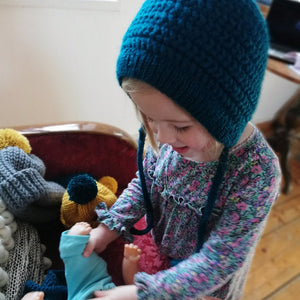 Child And Baby Bonnet-Bonnets-EKA