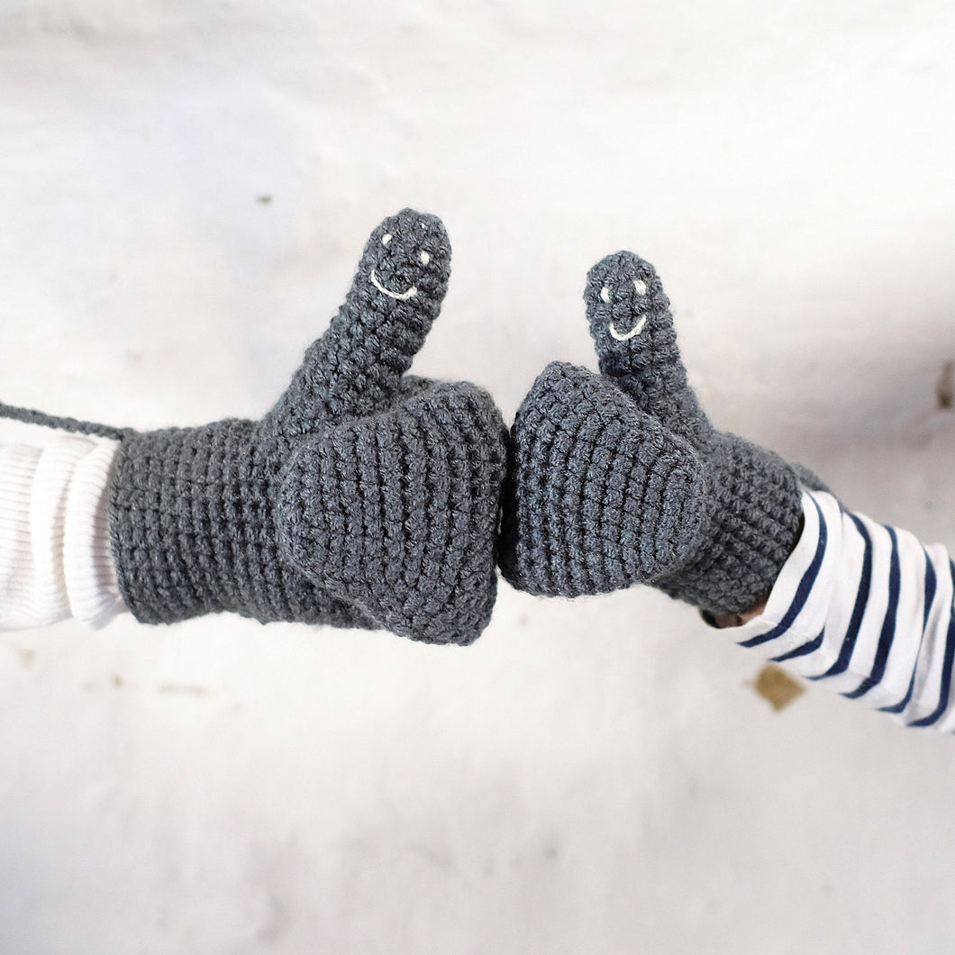 Smiley Face Mittens - kids sizes-Mittens-EKA