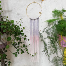 Load image into Gallery viewer, Dreamcatcher Talisman - Grey Pink Ombre-Wall Hangings-EKA