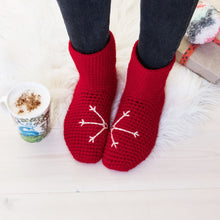 Load image into Gallery viewer, Slipper Socks With Snowflake Design-Slipper Socks-EKA