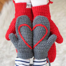 Load image into Gallery viewer, Daddy And Me Matching Heart Mittens-Mittens-EKA