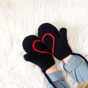Hidden Heart Mittens - All Sizes-Mittens-EKA