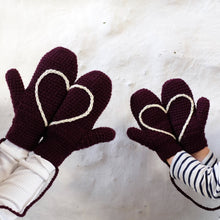 Load image into Gallery viewer, Hidden Heart Mittens - All Sizes-Mittens-EKA