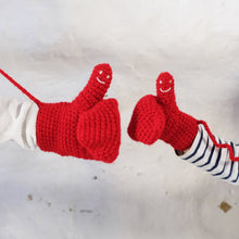 Load image into Gallery viewer, Smiley Face Mittens - kids sizes-Mittens-EKA