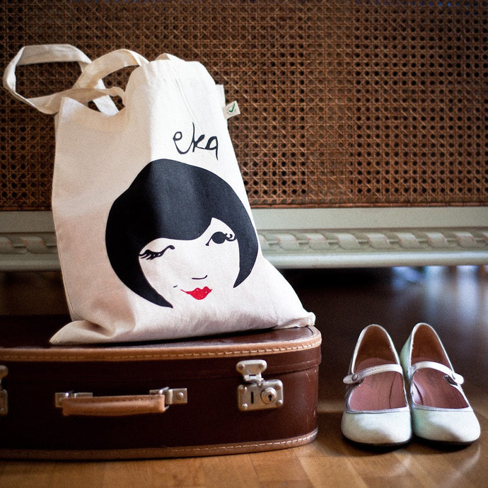 Organic Cotton Tote Bag EKA Wink