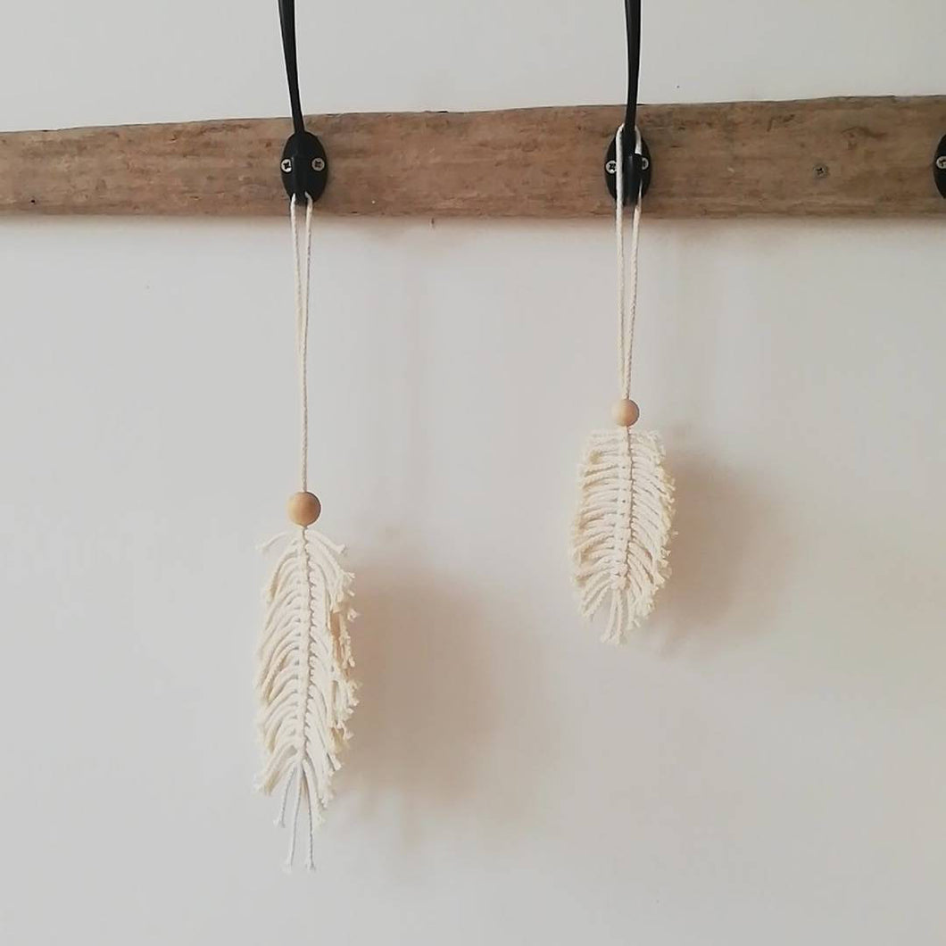 Set Of Macrame Leaves-Wall Hangings-EKA