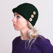 Load image into Gallery viewer, Cloche Hat with Buttons-Hats-EKA