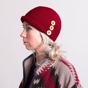 Cloche Hat with Buttons-Hats-EKA