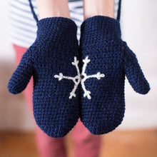 Load image into Gallery viewer, Snowflake Mittens - Adult, Child and Baby.-Mittens-EKA