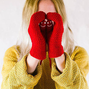 Smiley Face Mittens - Adult-Mittens-EKA