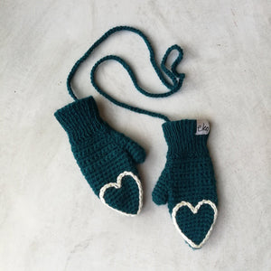 Fingertip Heart Mittens For Baby And Child