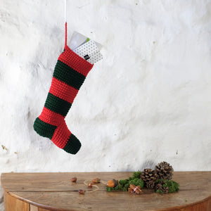 Chunky Striped Christmas Stocking-Hanging Toys-EKA