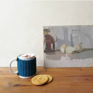 Organic Cotton Mug, Cosy And Coaster Set-Mug Cosies-EKA