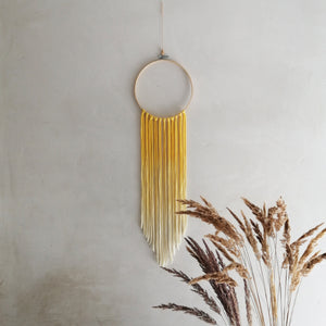 Dreamcatcher Talisman - Yellow Ombre