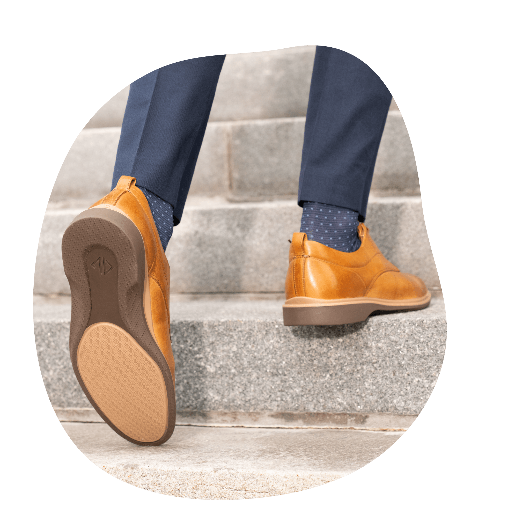 Amberjack The Original Tan Dress Shoe with Comfortable outsole