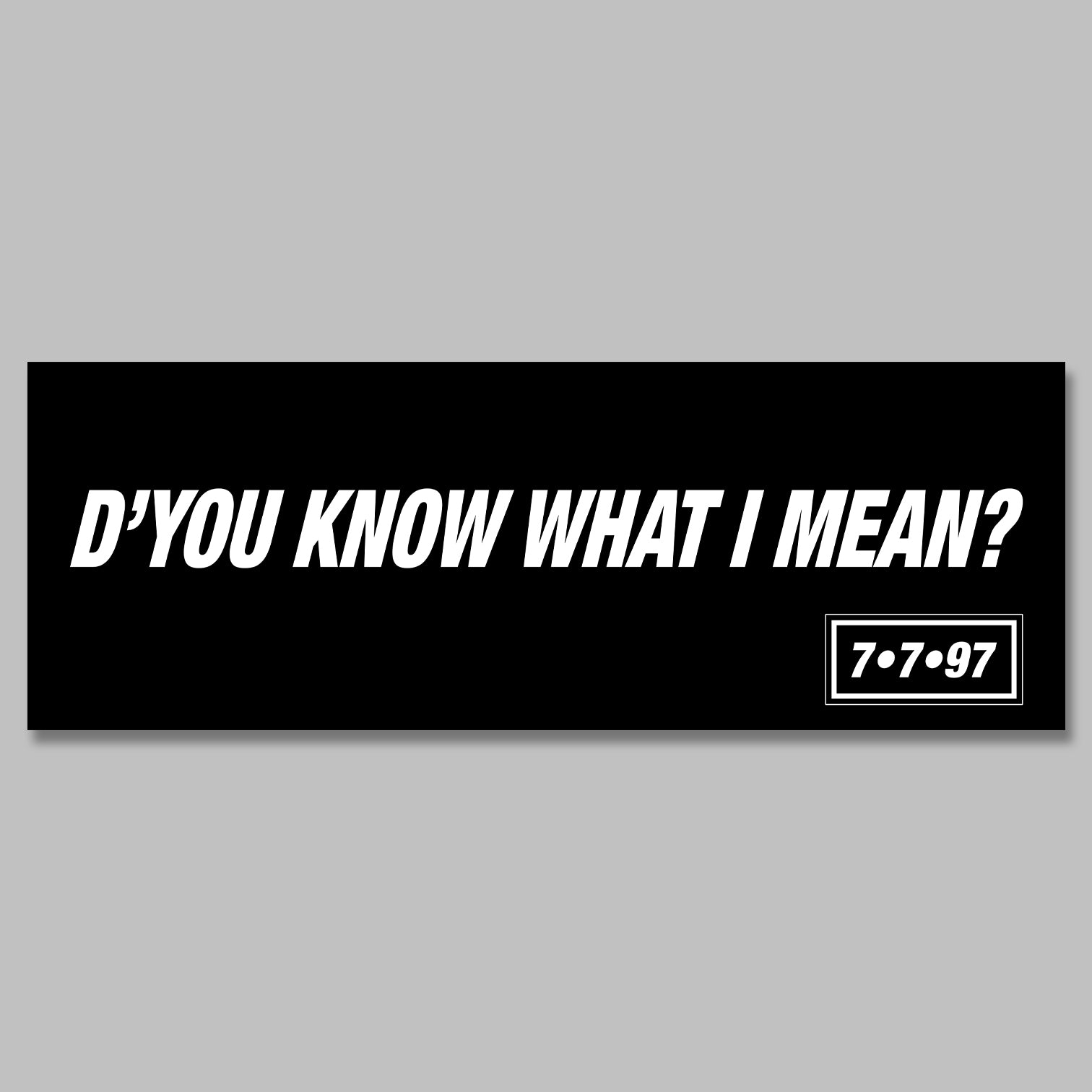 Oasis 'D'You Know What I Mean?' promo Banner