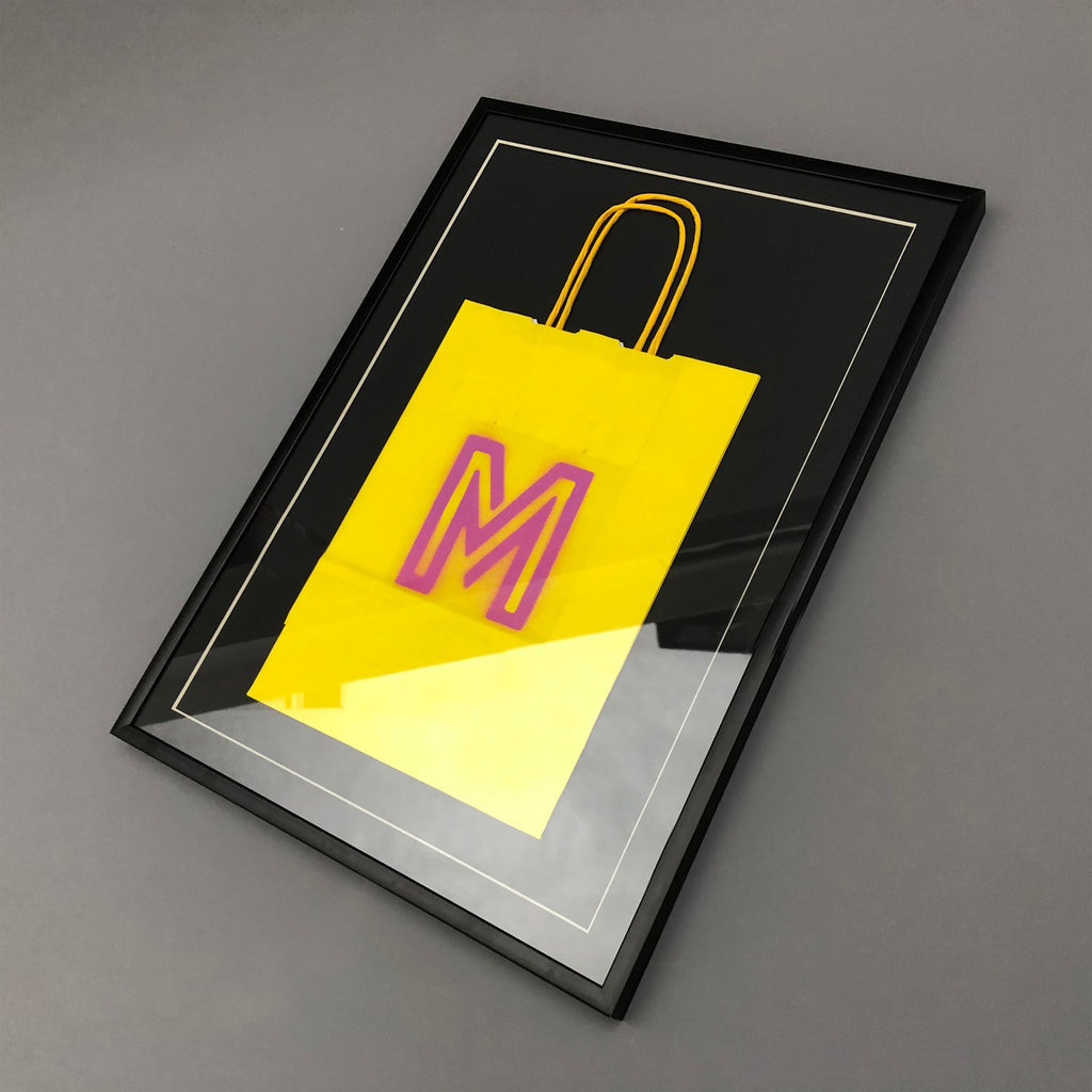Microdot Framed Carrier Bag - Pop Culture Icon