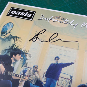 Oasis - Definitely Maybe - Unplayed Vinyl - Signed