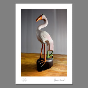 Bonehead Signed Flamingo Limited Edition Print