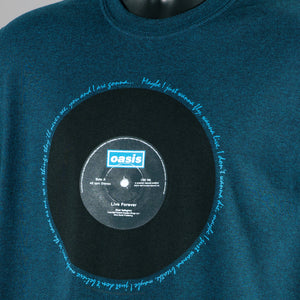 Oasis - Live Forever T Shirt - Denim Blue