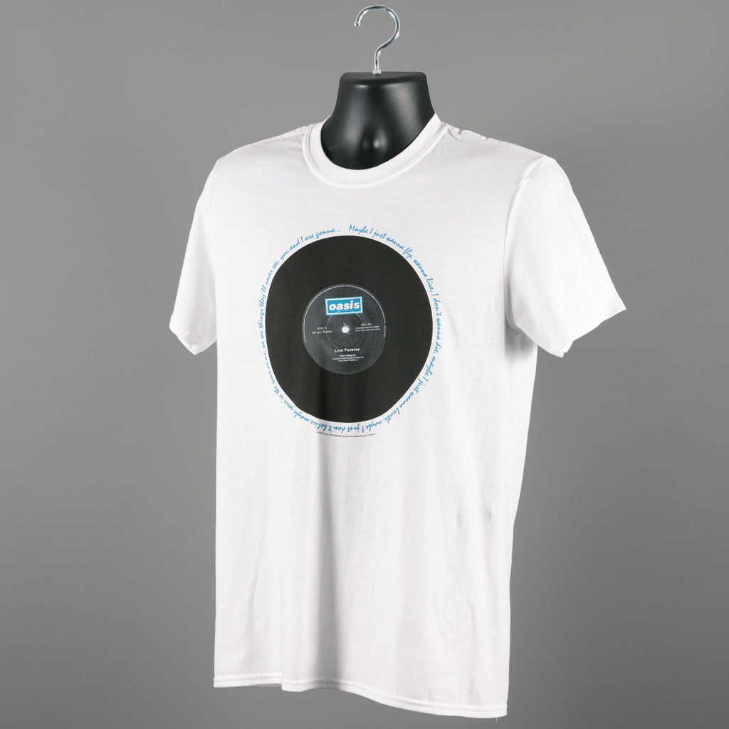 Oasis - Live Forever T Shirt - White