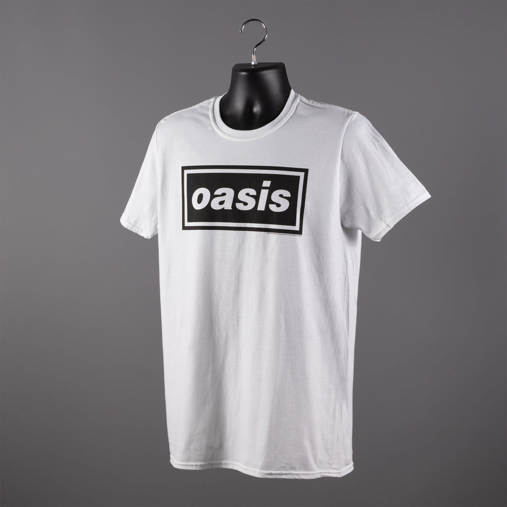 OASIS CLASSIC LOGO T SHIRT - WHITE