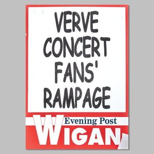 The Verve Haigh Hall Gig Newsagents Sign