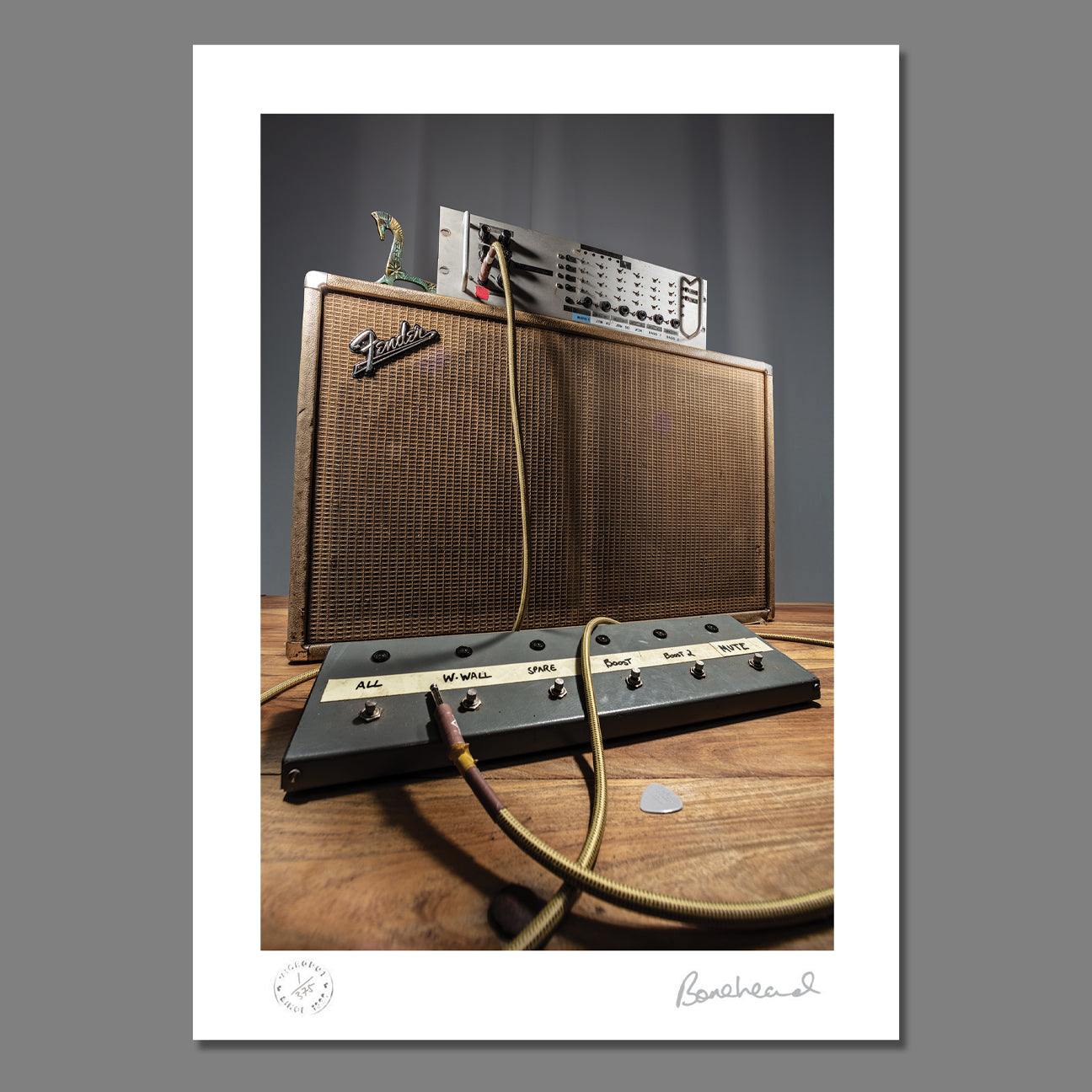 Bonehead Signed Wall Of Sound Limited Edition Print