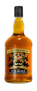 Scottish Spirits - Whisky escocés 12 años en botella vidrio de 1 litro | paquete de 3 botellas