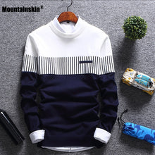 Load image into Gallery viewer, Mountainskin New Men's Autumn Winter Pullover Wool Slim Fit Knitted Sweater Striped Mens Brand Clothing Casual Pull Homme SA752