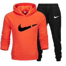 Load image into Gallery viewer, Free Shipping New 2019 Brand Tracksuit Fashion Hoodies Men Sportswear Two Piece Sets Fleece Thick hoody+Pants Sporting Suit Male