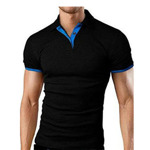 Summer short Sleeve Polo Shirt menTurn-over Collar Slim casual fashion Breathable Solid Color Business polo shirt smens clothin