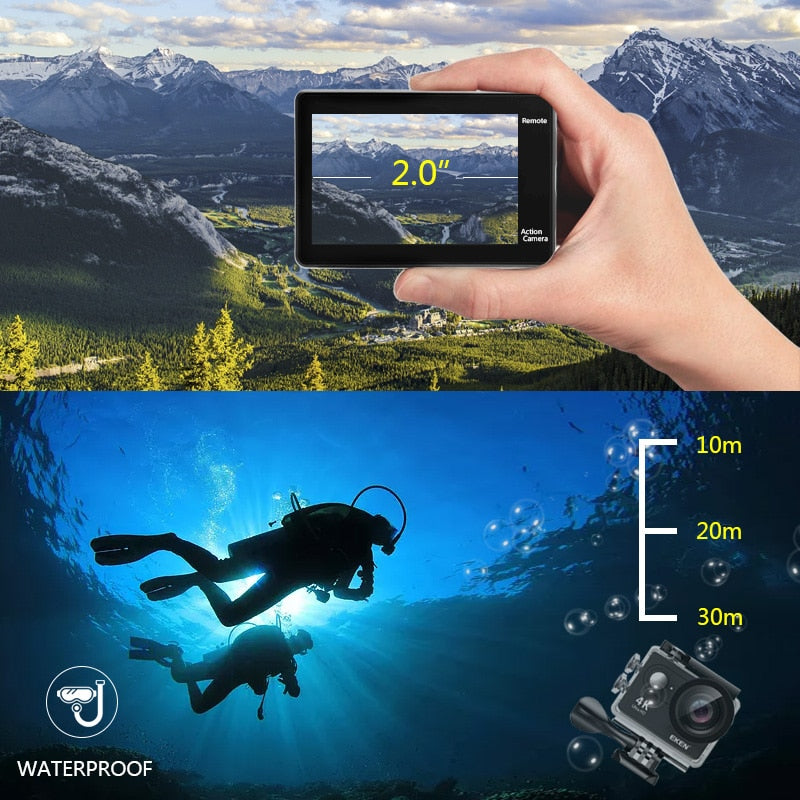 EKEN H9R 4K UHD WIFI WATERPROOF ACTION CAMERA 30FPS
