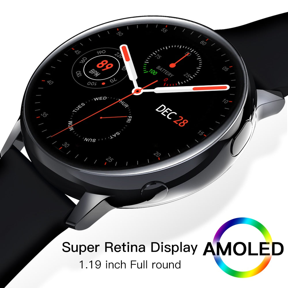 LEMFO SG2 Full Touch Amoled 390*390 HD Screen ECG Smart Watch Men Wireless Charing IP68 Waterproof Heart Rate BT 5.1 Smartwatch - Panda Play Store