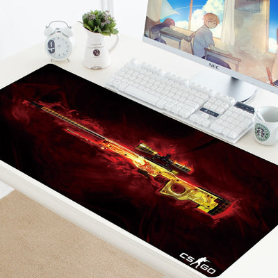 CSGO Large Game Mouse Pad Mat Laptop Gaming Mousepad XL Anti-slip Rubber Grande Gamer Mouse Pad Fashion Office Desk Computer Pad - Panda Play Store