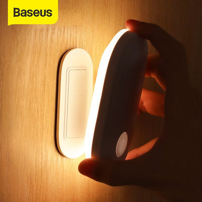 Baseus Magnetic Night Light Human Body Induction Night Light Led Lamp Rechargeable Body Automatic Induction Lamp Wall Light - Panda Play Store