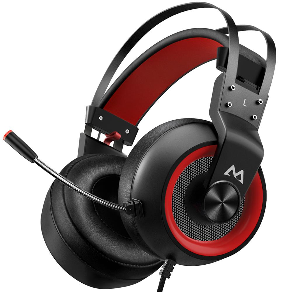 Mpow EG3 Pro Gaming Headphones For iPad PS4 PC Laptop Tablet Phones 3.5mm Jax & USB Cable Support Volume/Mic Control 50mm Driver